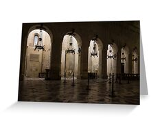 Syracuse Cathedral - an Ancient Greek Temple, 2500 Years Old Greeting Card