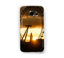 Framing the Sunset in London - the London Eye and Big Ben  Samsung Galaxy Case/Skin