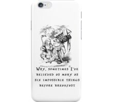 Impossible things iPhone Case/Skin