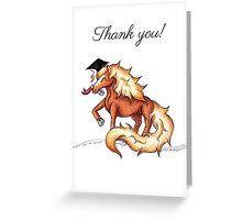 Equestrian Grad (Thank You Card) Greeting Card