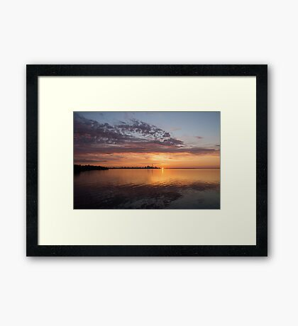 My World This Morning - Toronto Skyline at Sunrise Framed Print