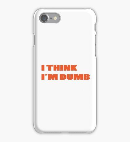 Dumb Stupid Simple Funny Cool Orange Tetx iPhone Case/Skin