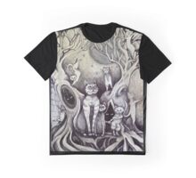 they danced under the light of the moon cat art Graphic T-Shirt