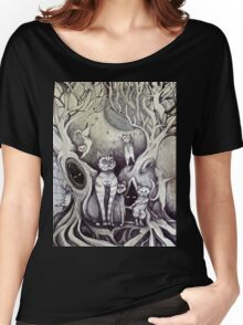 they danced under the light of the moon cat art Women's Relaxed Fit T-Shirt