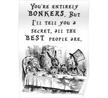 You're entirely bonkers Poster