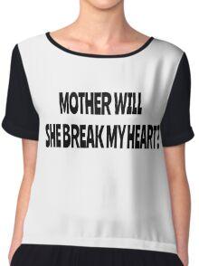 Pink Floyd Lyrics Mother Rock T-Shirts Chiffon Top