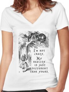 I'm not crazy Women's Fitted V-Neck T-Shirt