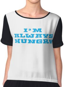 Hungry Food Funny Fat People Gym Fitness Chiffon Top