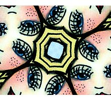 Kaleidoscope freckled faces Photographic Print