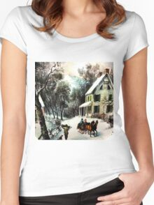 Winter In old Virginia Women's Fitted Scoop T-Shirt