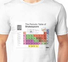 Periodic Table of Shakespeare Unisex T-Shirt