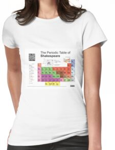 Periodic Table of Shakespeare Womens Fitted T-Shirt