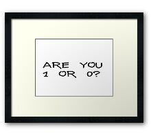 Mr Robot Famous Tv Show Quotes Framed Print