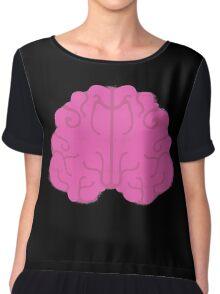 Pink Brain Chiffon Top