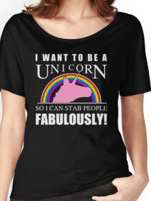 Unicorn Humor Women's Relaxed Fit T-Shirt
