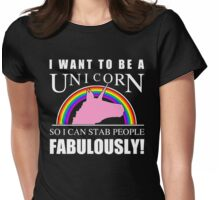 Unicorn Humor Womens Fitted T-Shirt