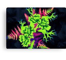 Coral Carnation - Green/Purple Canvas Print