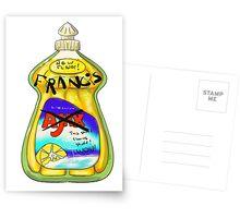 Francis, it cleans stuff! Postcards