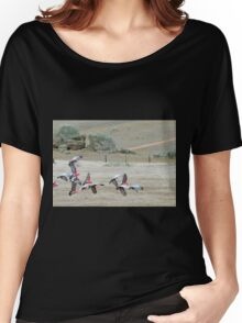 Galah's 'Take Off' over dry paddocks. Native Parrots, Mt. Pleasant. Women's Relaxed Fit T-Shirt