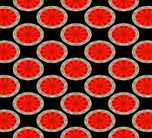 Orange Circles by Donna Grayson