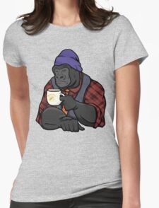 Grumpy Gorilla's Banana Brew Womens Fitted T-Shirt