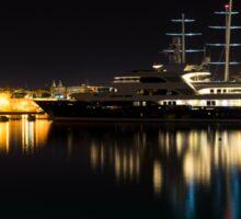 Reflecting on Malta - Vittoriosa and Senglea Megayachts Sticker