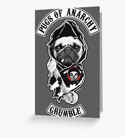 pugs of anarchy Greeting Card