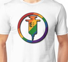 Rainbow Needle Icon Unisex T-Shirt