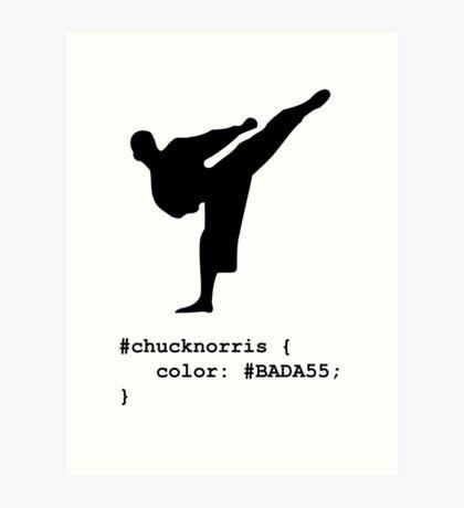 Chuck Norris - Geek / Nerd Joke Art Print