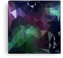 Green and Purple Abstract Crystalline Fractal  Canvas Print