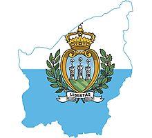 Flag Map of San Marino  Photographic Print