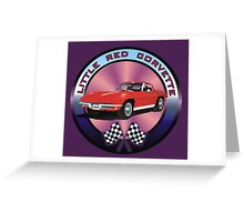 A Little Red Corvette Greeting Card