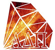 ADPi Diamond - Red Photographic Print