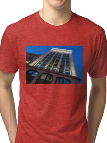City Night Walks – White, Green and Blue Facade Tri-blend T-Shirt