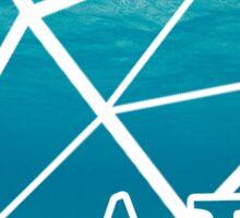 ADPi Diamond - Ocean Sticker