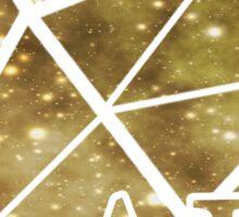 ADPi Diamond - Gold Sticker
