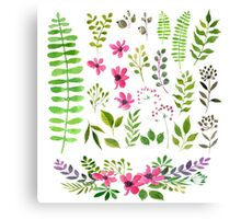 Floral Formation Canvas Print