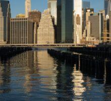 Manhattan Waking Up Sticker