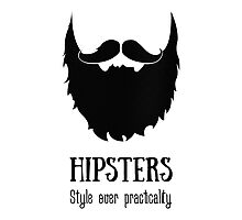 Hipsters - style over practicality Photographic Print
