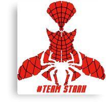 PLEASE SUPPORT TEAM STARK - SPIDER MAN Canvas Print