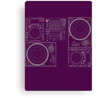 DJ Equipment Gear Canvas Print