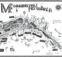Mornington Peninsula map by Jenny Wood