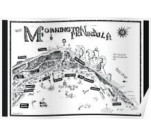 Mornington Peninsula map Poster