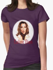 Celine Dion Face beauty Womens Fitted T-Shirt