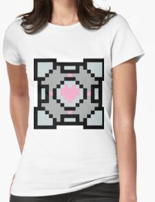 Portal's Companion Cube Womens Fitted T-Shirt