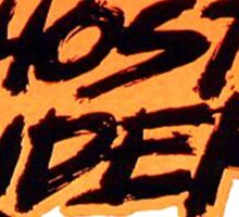 Ghost Rider - Classic Title - Clean Sticker