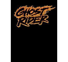 Ghost Rider - Classic Title - Dirty Photographic Print