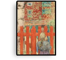 The Fence or Staketet Canvas Print