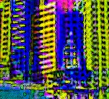 $IN CITY: ABSTRACT CITYSCAPE (UNO) Sticker