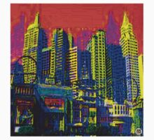 $IN CITY: ABSTRACT CITYSCAPE (UNO) Kids Tee